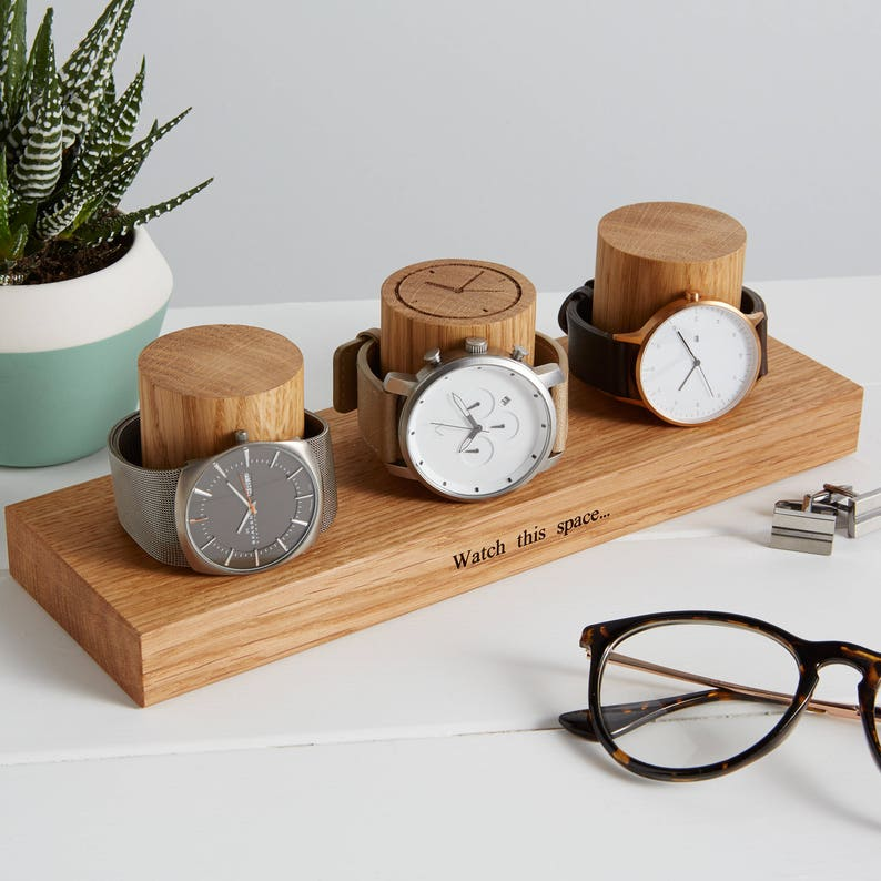 Watch Stand for Three Watches / Personalised Watch Storage / image 0