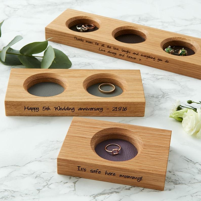 Personalised Wedding Ring Dish / Bits and Bobs Tray / Loose image 0