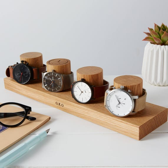 Watch Stand For Four Watches Personalised Watch Storage Gift For Him Watch Holder Personalized Watch Display Watch Gift For Dads