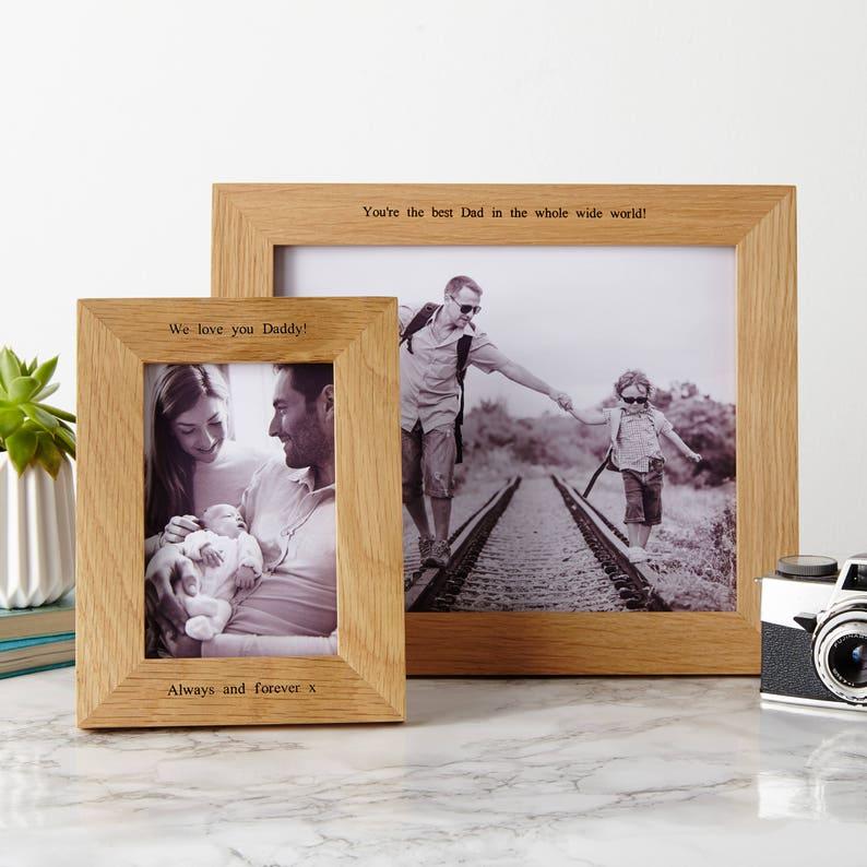 Personalised Oak Photo Frame