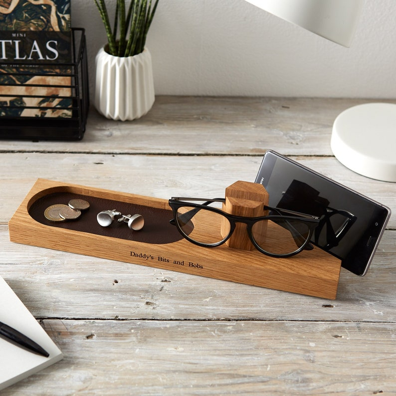 Personalised Glasses And Phone Stand with Storage Tray / 5th image 0