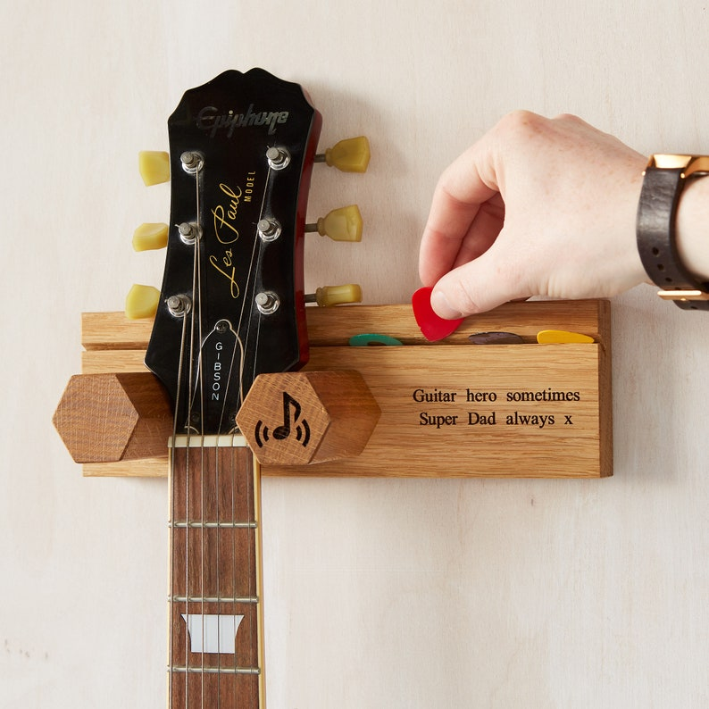 Personalised Guitar Stand & Plectrum Pick Holder / Gift for image 0