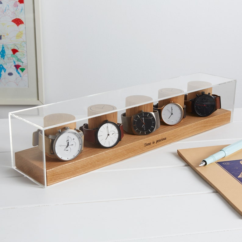 Watch Box for Five Watches / Watch Storage / Gifts for him / image 0