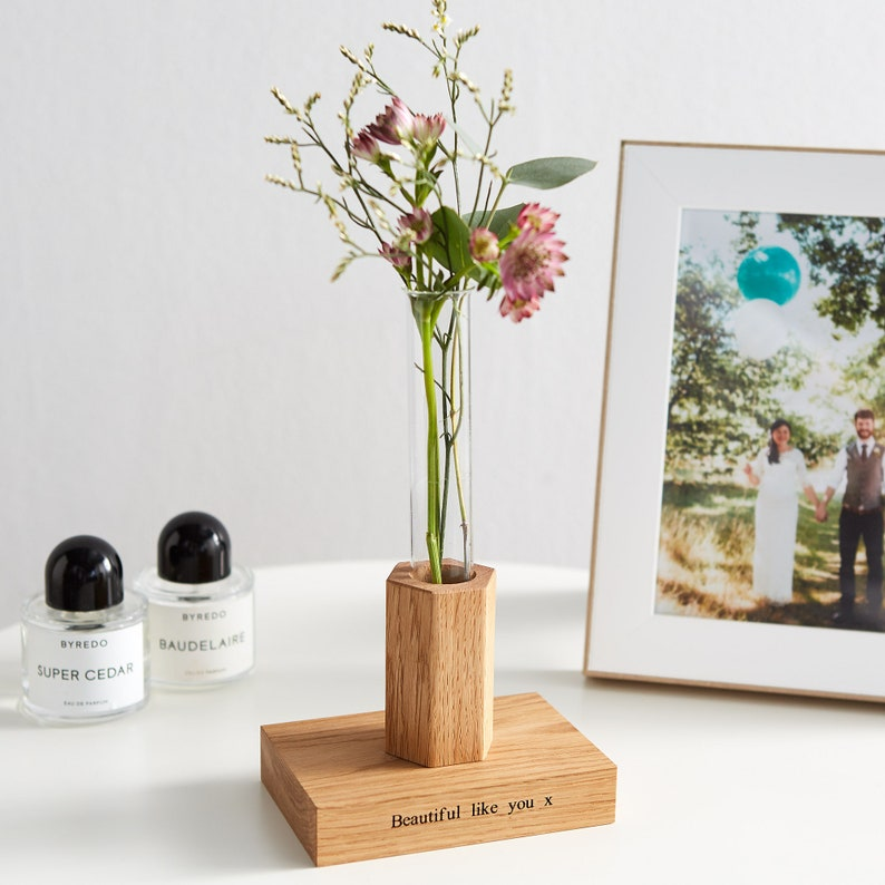 Personalised Flower Stem Vase / Mother's Day Gift / image 0