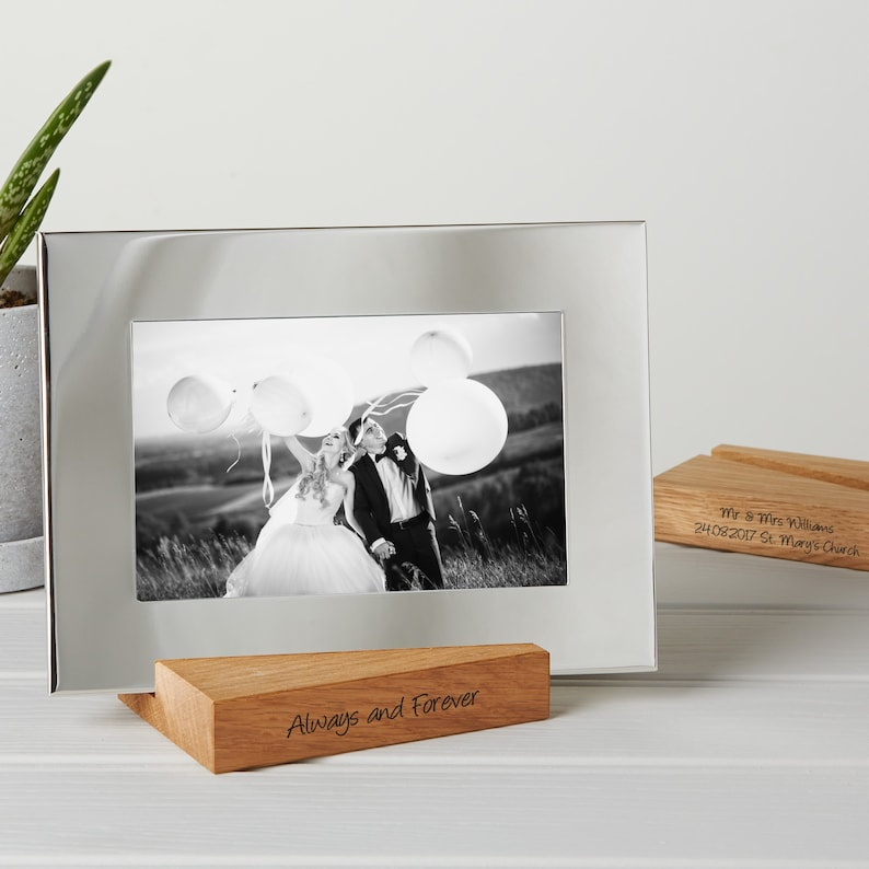 Silver Photo Frame With Personalised Stand / Mother's Day image 0