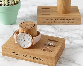 Ladies Ring and Watch Stand / Jewelry Storage / Personalised Gift for Her / Ring Storage / Sister Gift / Bridesmaid gift / Daughter Gift