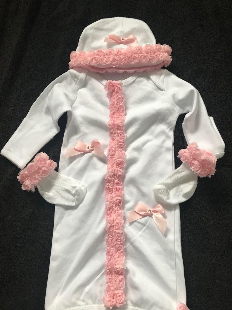Handmade baby girls bonnet newborn bling Spanish style
