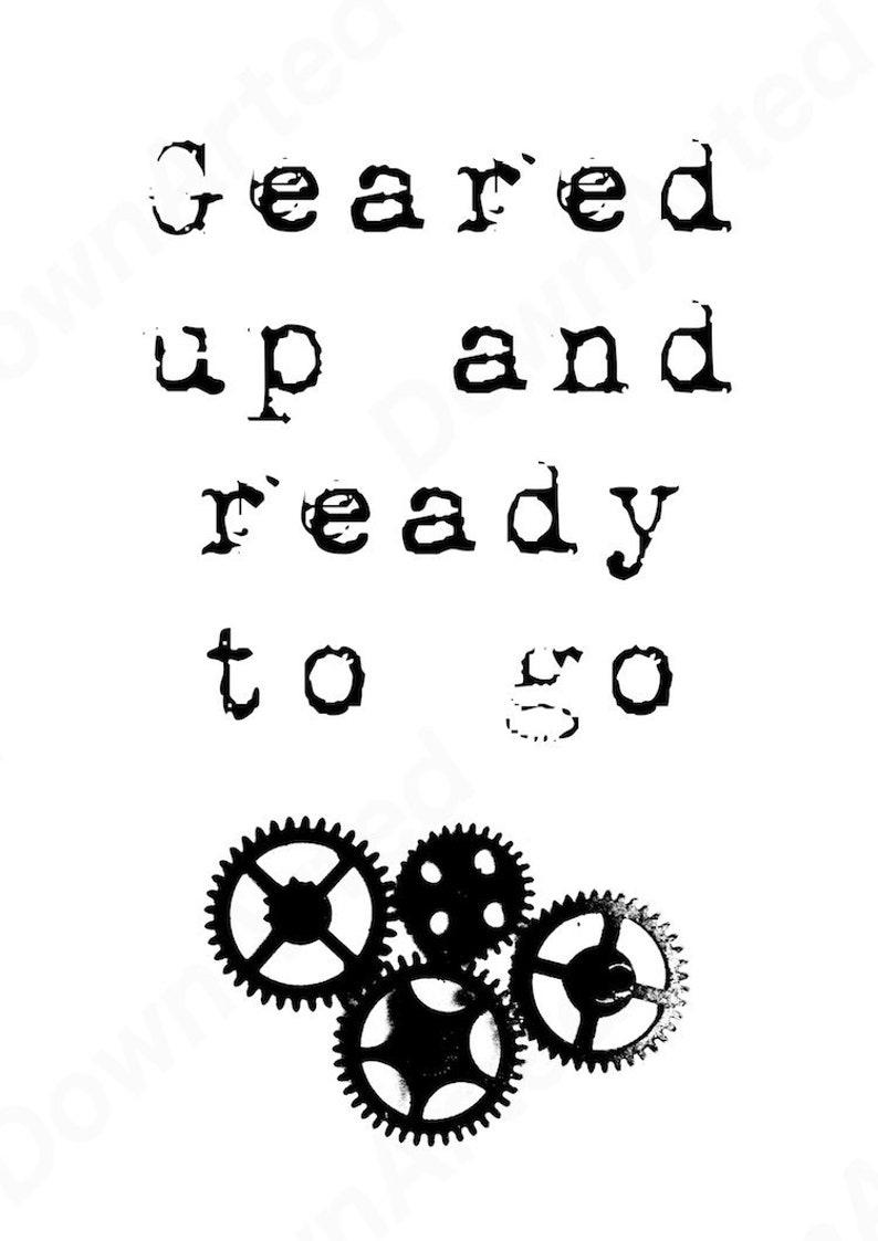image regarding Printable Gears referred to as Steampunk Gears Wall Artwork, Printable Down load. \