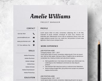 Modern Resume Template For Pages CV Microsoft