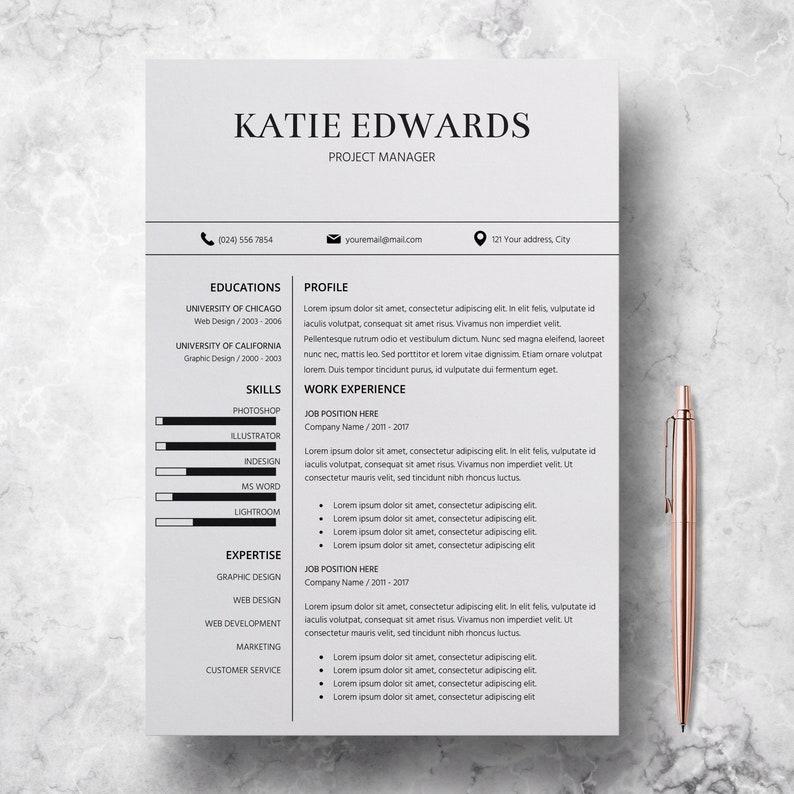 Teacher Resume Template CV Word Professional