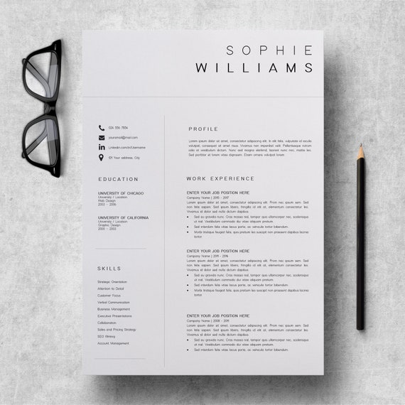 Modern Cv Layout Simple Cv Format In Word Amazing Cv Templates