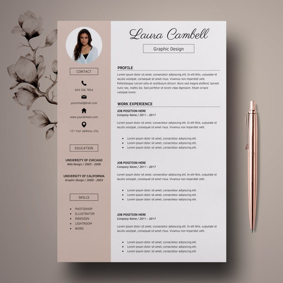 Download A Resume Template For Microsoft Word from i.etsystatic.com