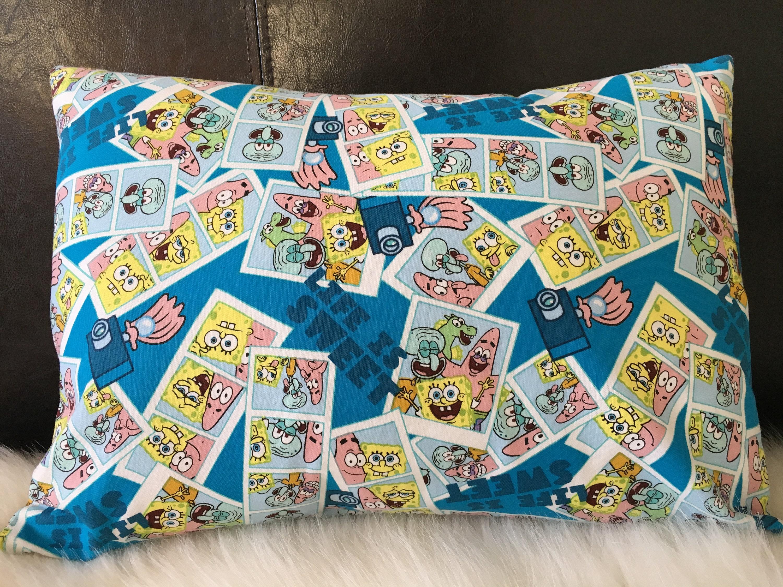 sponge bob square pants and friends pillow travel pillow throw