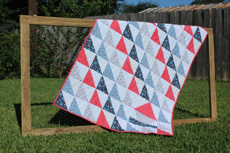 Quilt Pattern Pdf Half Square Triangle Sailboat Quilt Etsy