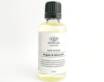 Hair Oil Serum - Argan & Sunflower - Unscented- All Natural Hair Conditioners - Vegan - Deep Conditioning Treatment -  Leave In Conditioner