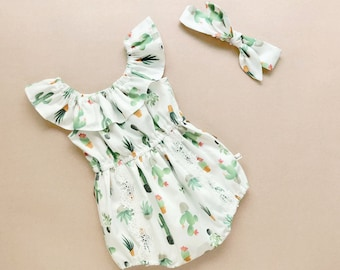 48f5fbb58c3e baby girl outfits Baby Girl Romper romper baby girl baby rompers cactus  baby clothes cactus baby girl romper Baby Romper cactus party