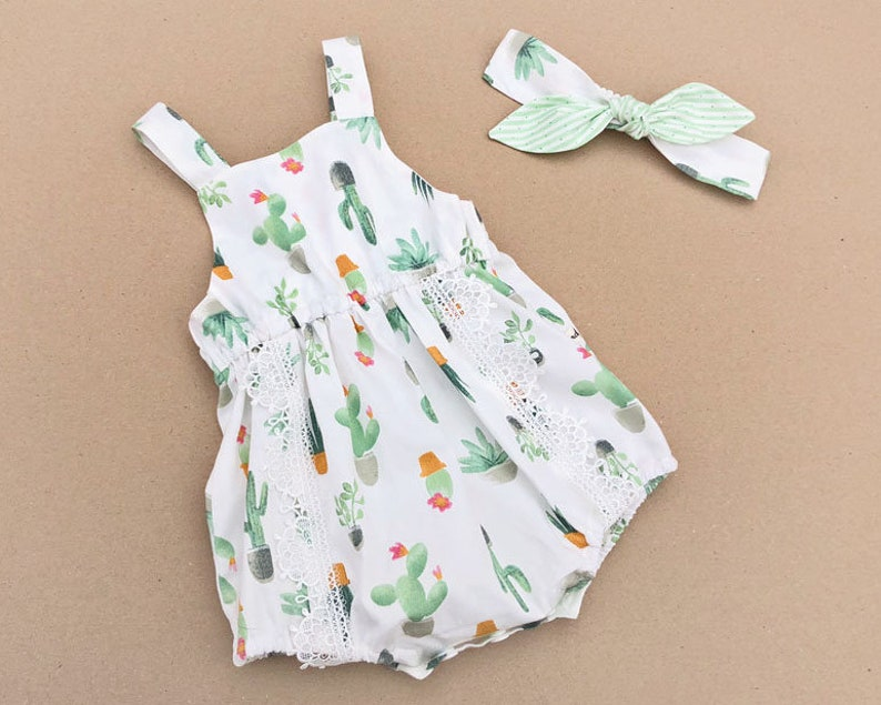 5709bfb2d Baby romper cactus baby girl clothes baby girl outfits cactus   Etsy