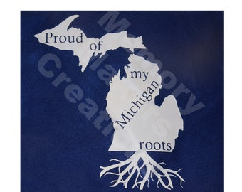 Thankful for my Michigan roots then show them with this heat treated Michigan proud to be from the great lakes state