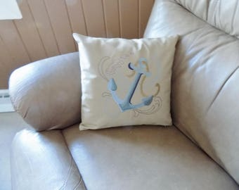 Anchor Toss Pillow