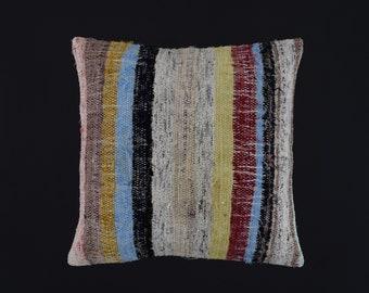 striped colorful rug pillow cover 22x22 turkish pillow moroccan pillow 55x55 rug pillow southwestern tribal berber boho pillow 22x22 rag