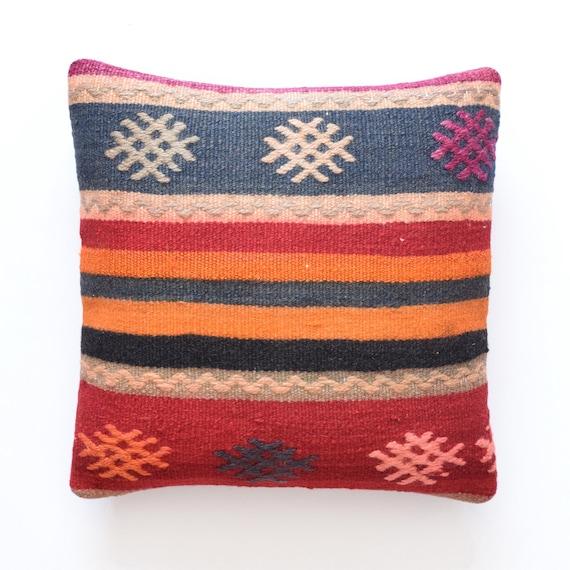 Kussenhoes 40 X 65.Turkish Pillow Kelim Kissen Turkish Cushion Kussenhoes 14 X 14 Etsy