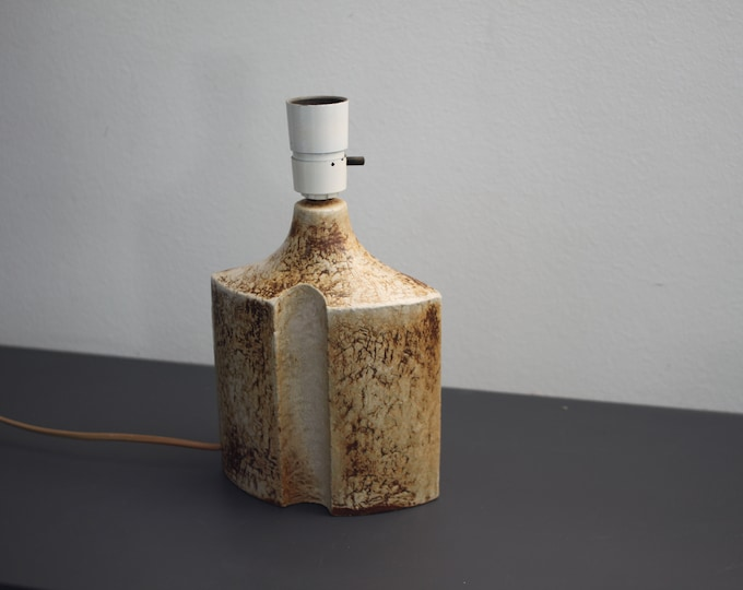 Søholm - A rare beige and brown table lamp nr. 1219-1  by artist Haico Nitzsche.
