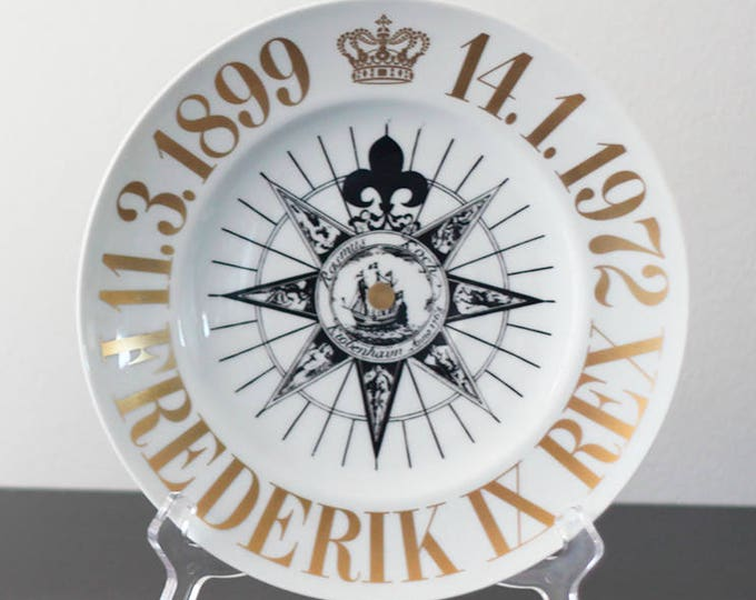 "Bing and Grondal memorial plate ""Danmarks Dronning Magrethe II"" - Limited edition"