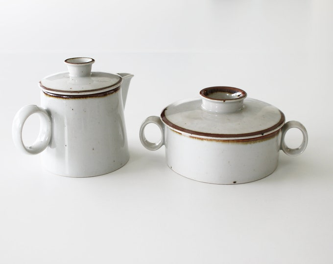 "Stoneware sugar bowl and cream jug ""Brown Mist"" by Niels Refsgaard, Dansk Designs"