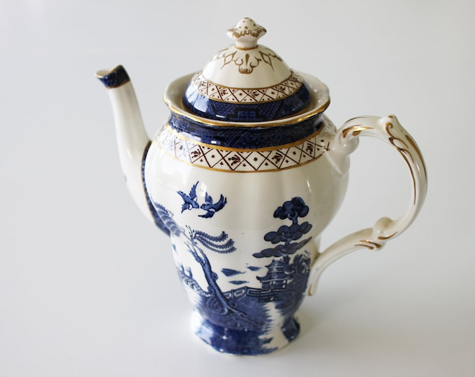 Real old willow Coffee pot (Gold/Brown) A8025 by Booths