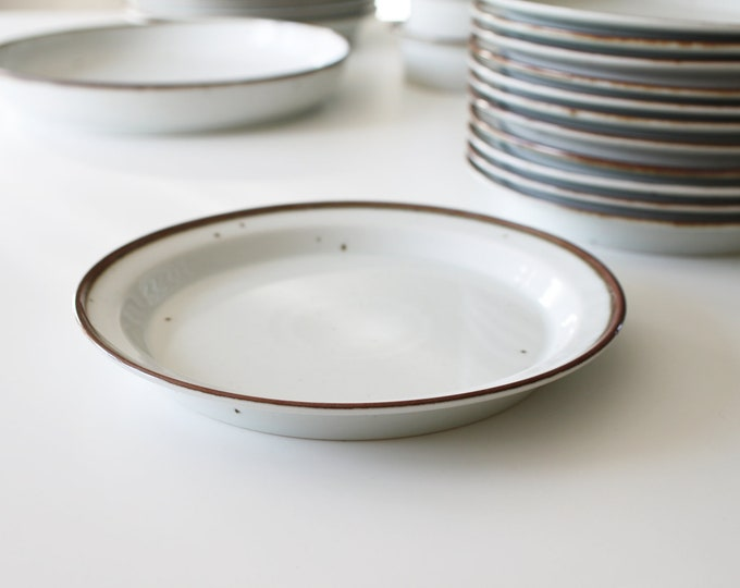 "Stoneware lunch plate ""Brown Mist"" Dansk Designs by Niels Refsgaard"