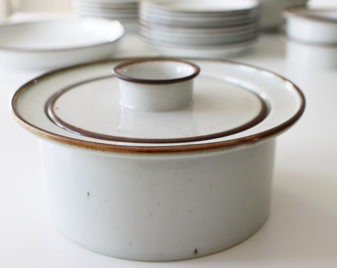 "Stoneware lid bowl ""Brown Mist"" Dansk Designs by Niels Refsgaard"
