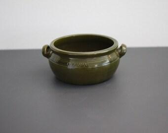 Green Hoganas ear bowl from 1950's. (Ø 15 cm.) Höganäs