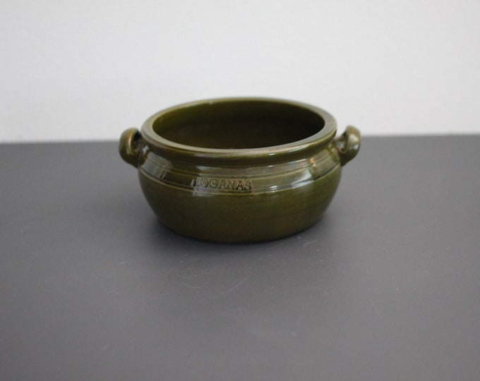 Green Hoganas ear bowl from 1950's. (Ø 15 cm.) Höganäs