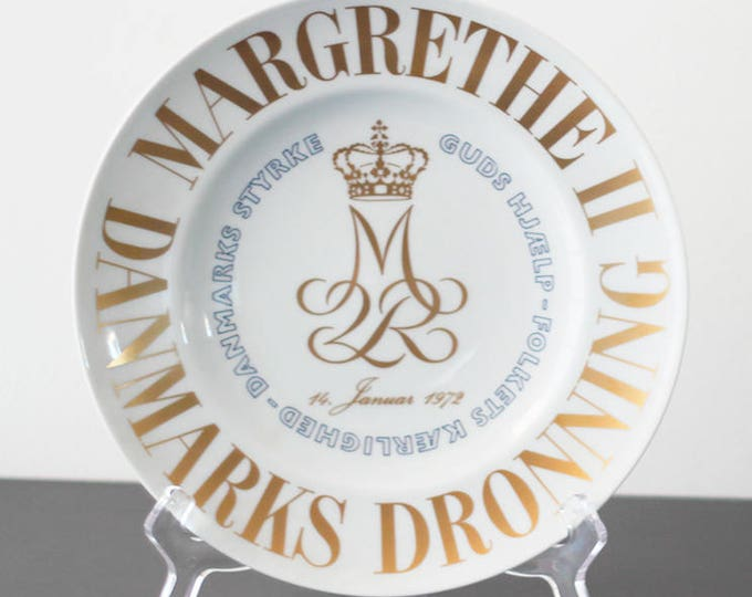 "Bing and Grondal accession plate ""Danmarks Dronning Magrethe II"" - Limited edition"