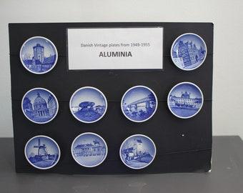 Aluminia small plates from 1949-1955. ( 8,5 cm.)
