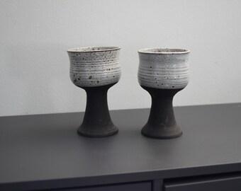 Retro ceramic candleholders
