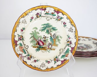 Vintage plate, England Leeds - reproduced by Masons 1932
