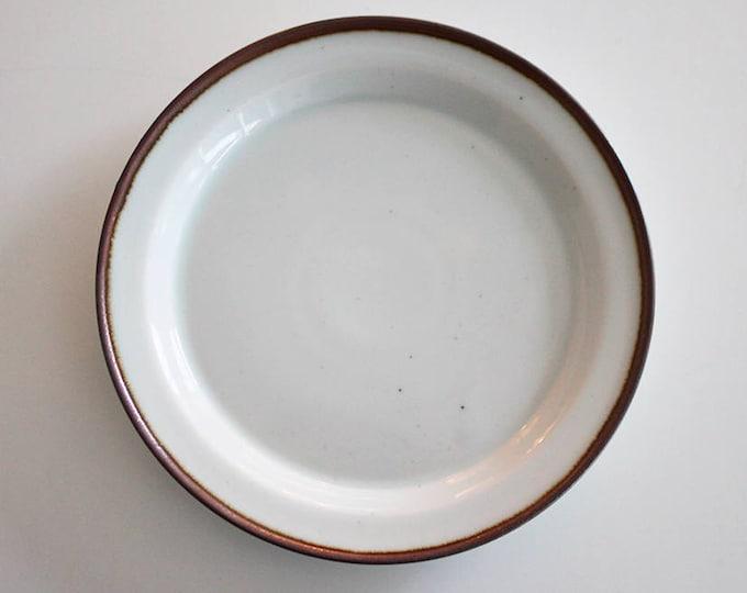 """Stoneware tea plate """"Brown Mist"""" by Niels Refsgaard, Dansk Designs"""