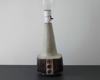 Brown and beige lamp with circles from 1970's. (6197) Marianne Starck (ms). Michael Andersen & Son.