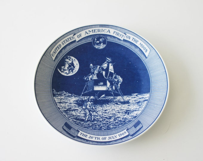 1969 Moon Landing Collectors Plate by Lund & Clausen