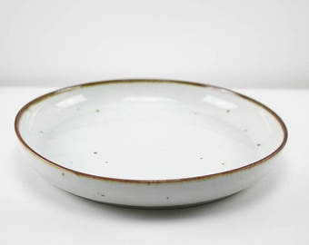 "Stoneware serving dish ""Brown Mist"" by Niels Refsgaard, Dansk Designs"