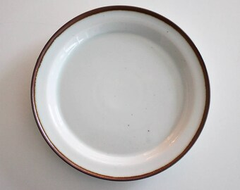 "Stoneware lunch plate ""Brown Mist"" by Niels Refsgaard, Dansk Designs"