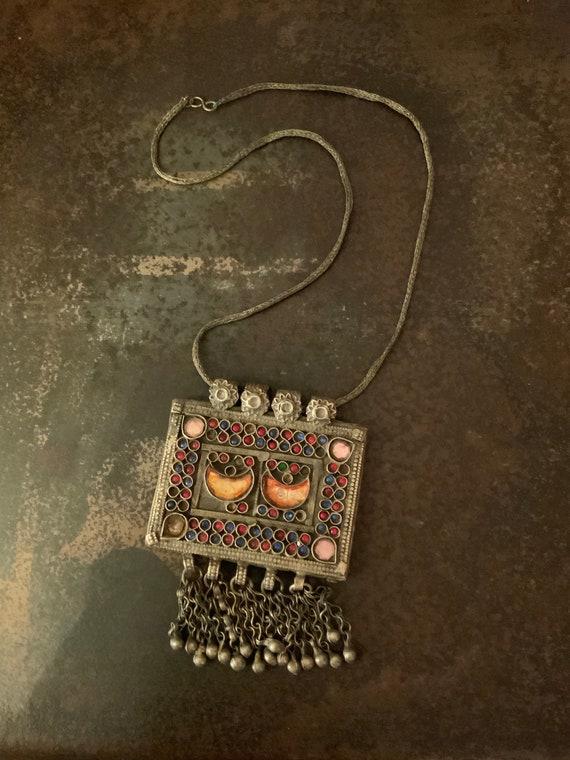 African Necklace, Museum Quality Vintage Tribal Af