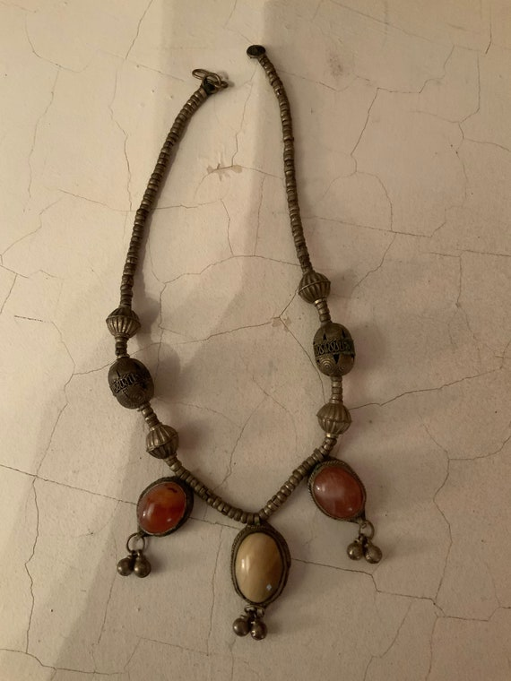 African Necklace, Museum Quality Vintage African N