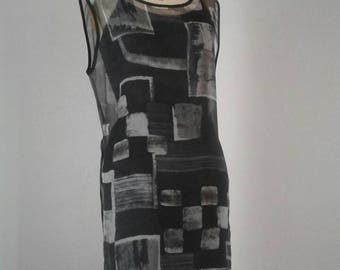 Chiffon shell tunic dress with side slits.