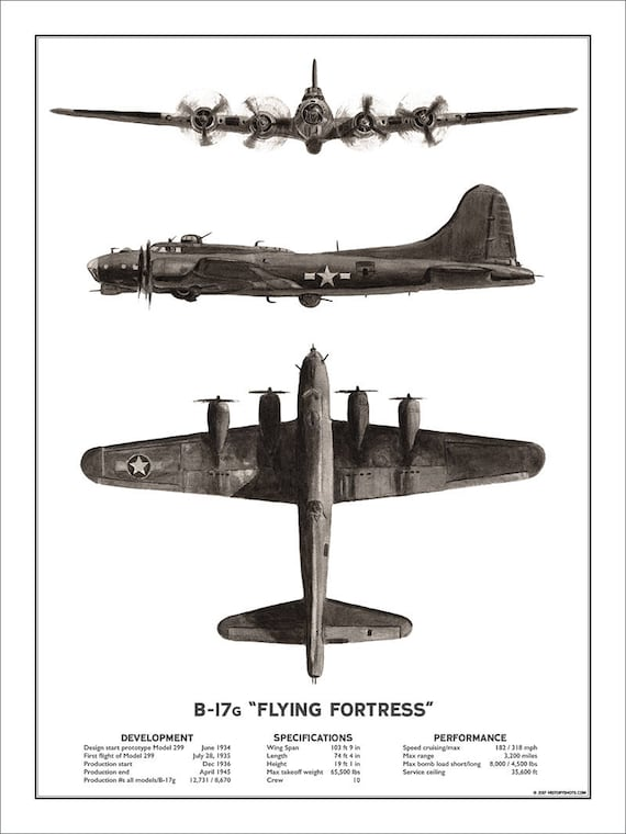 Canvas B-17 Bombers Under Production Art print POSTER