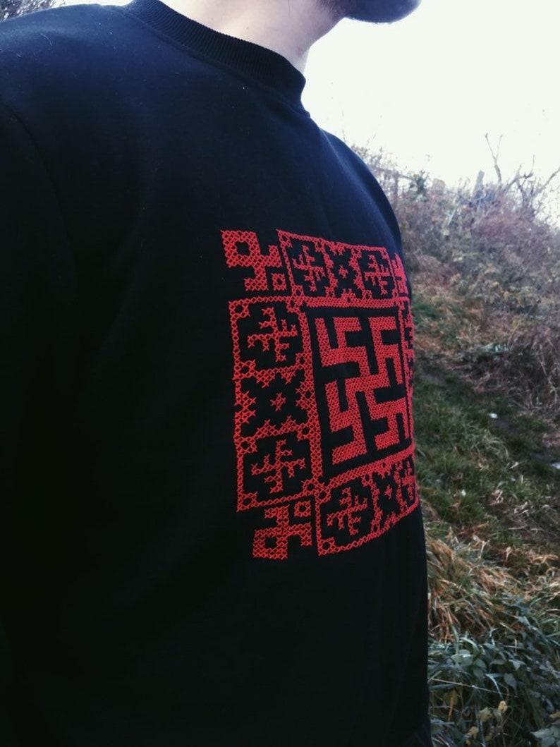 Sweatshirt with pagan Slavic embroideryOdalOthala