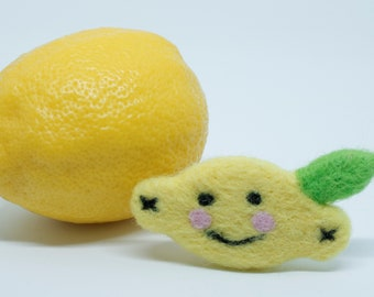 Smiling Lemon Brooch