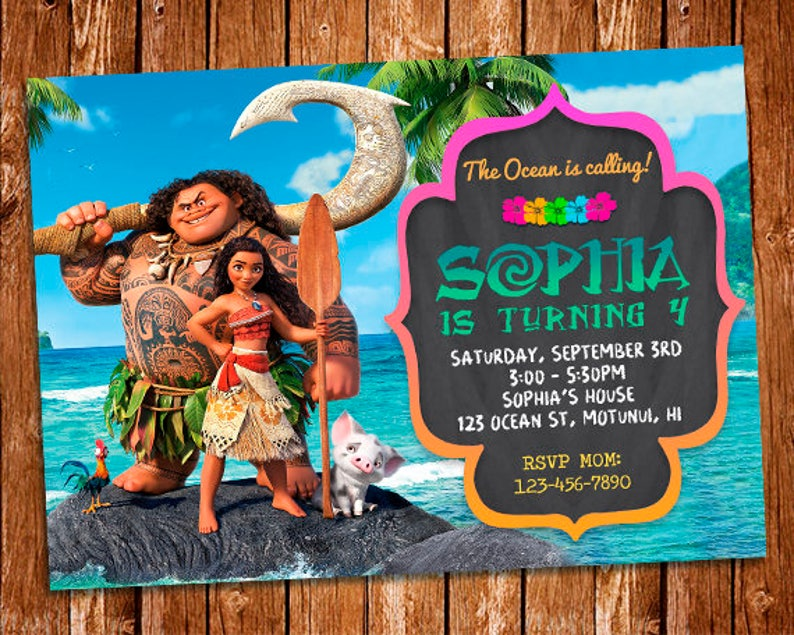 photo regarding Moana Printable Invitations titled Moana Invitation, Moana Birthday Get together, Maui Invitation, Moana Birthday Invitation, Moana Get together, Moana Invite, Moana Printable Invitation