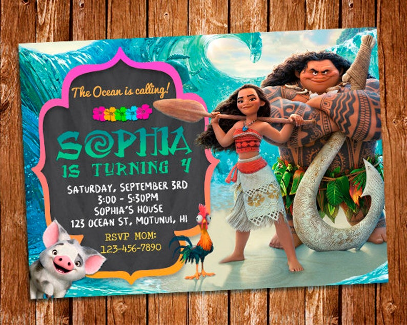 image regarding Printable Moana Invitations named Moana Invitation, Moana Birthday Invitation Printable, Moana Birthday Card, Moana Printables, Moana Invite, Moana Birthday Invitation, Moana